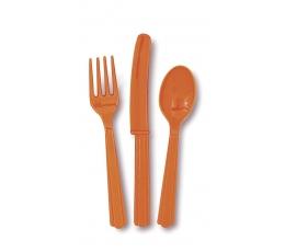 Stalo įrankių rinkinys, oranžinis (6-iems)