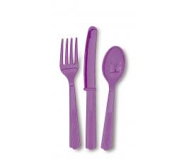 Stalo įrankių rinkinys, violetinis (6-iems)