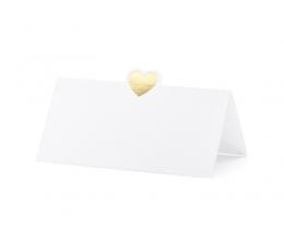 """Stalo kortelės """"Auksinė širdelė"""" (10 vnt.)"""
