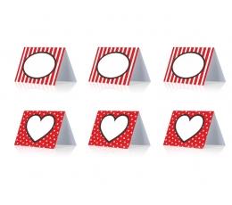 "Stalo kortelės ""Širdelės"" (6 vnt.)"
