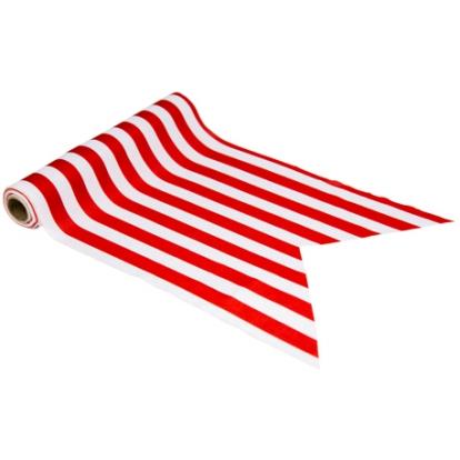 Stalo takelis, raudonai-baltai dryžuotas (28 cmx5 m)