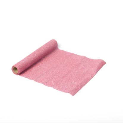 Stalo takelis su blizgučiais, rožinis (30x300 cm)