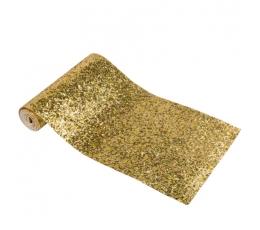 Stalo takelis, žvilgantis auksinis (15 cm x 1,4 m)