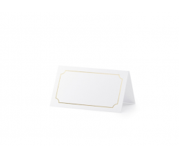"Stalo-vardų kortelės ""Auksinis rėmelis"" (10 vnt.)"