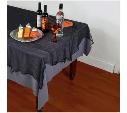 Staltiesė iš marlės audinio, juoda (152x213 cm)