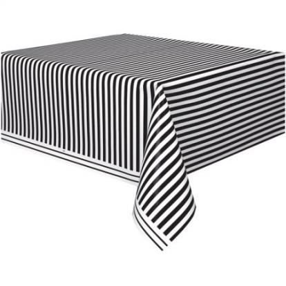 Staltiesė , juoda dryžuota (137x274 cm)