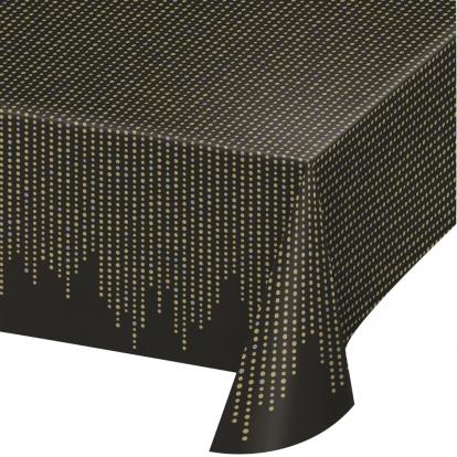 Staltiesė, juodai auksinė (137x259 cm)