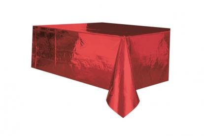 Staltiesė, raudona žvilganti (137x274 cm)