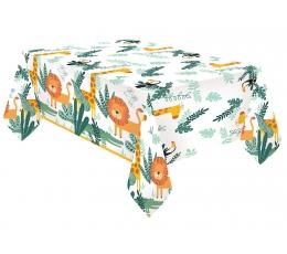 """Staltiesė """"Safari gyvūnai"""", popierinė (120x180 cm)"""