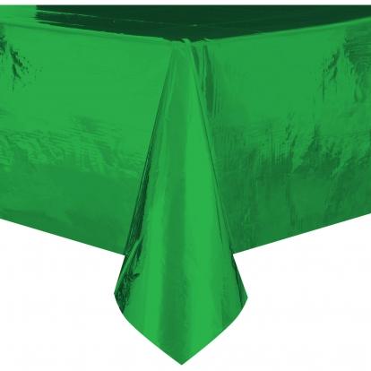 Staltiesė, žalia žvilganti (137x274 cm)