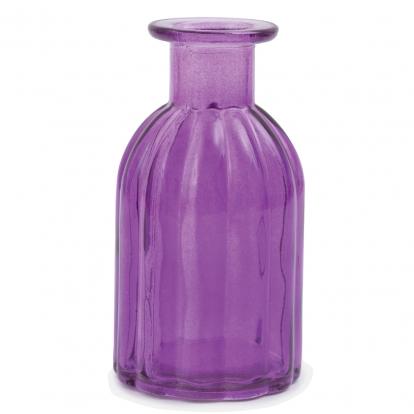 Stiklinis butelis-vazelė, violetinis (13,5 cm)