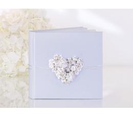 """Svečių palinkėjimų knyga """"Rožių širdelė"""" (60 lapų)"""