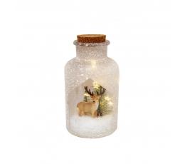 """Šviečianti dekoracija-butelis """"Elniukas"""" (10x19.5 cm)"""