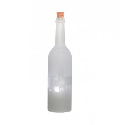 """Šviečianti dekoracija-butelis """"Kalėdų senelis"""" (30 cm)"""