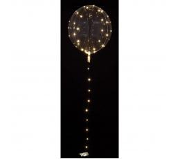 Šviečiantis balionas-clearz su LED lemputėmis, baltomis