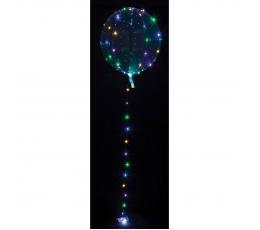 Šviečiantis balionas-clearz su LED lemputėmis, spalvotomis