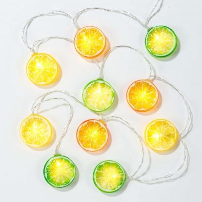 """Švieselių LED stiklainis """"Vaisiai"""""""