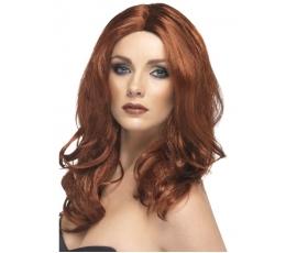 Tamsaus raudono atspalvio  perukas