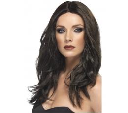 Tamsiai rudas banguotas perukas