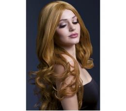 Tamsiai rudas garbanotas perukas (66 cm.)