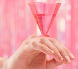 Taurės gėrimams-žiedai, rožinės (6 vnt.) 1