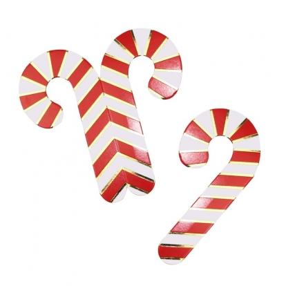 """Taurių dekoracijos """"Kalėdinės lazdelės"""" (10 vnt.)"""