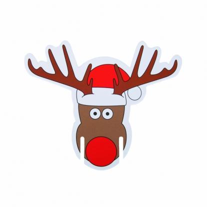 """Taurių dekoracijos """"Rudolfas"""" (10 vnt.)"""