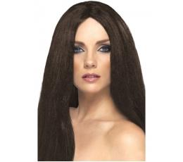 Tiesių rudų plaukų perukas (44 cm.)