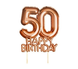 "Torto dekoracija ""50 Happy birthday"""