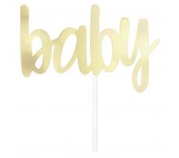 """Torto dekoracija """"Baby"""", auksinė (15,5 cm)"""