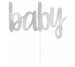 """Torto dekoracija """"Baby"""",  sidabrinė (15,5 cm)"""