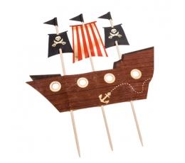 "Torto dekoracija ""Piratų laivas"" (16,5x20 cm)"