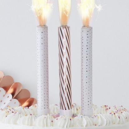 Torto fontanas, baltas-rožinio aukso spalvos (3 vnt.)
