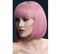 Trumpas rožinis plaukų perukas