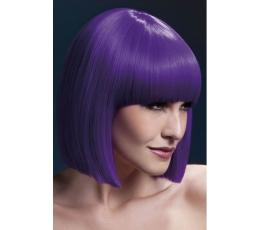Trumpas violetinis plaukų perukas