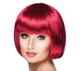 Trumpų plaukų perukas, raudonas