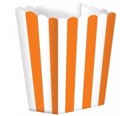 Užkandžių dėžutės, oranžinės (5 vnt.)