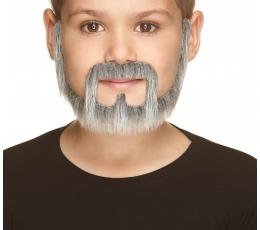 Vaikiška dirbtinė barzda ir ūsai (S133-MB)