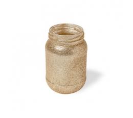 Vazelė-stiklainis, auksinė (11x7 cm)