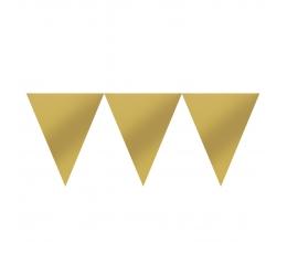 Vėliavėlių girlianda, aukso spalvos (4,5 m)