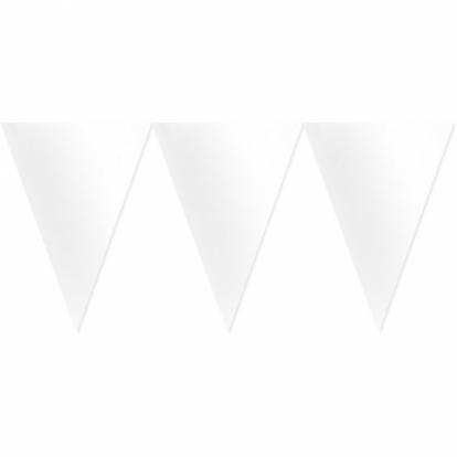 Vėliavėlių girlianda, balta (4,50 m)