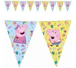 "Vėliavėlių girlianda ""Peppa Pig"" (9 vėliavėlės)"