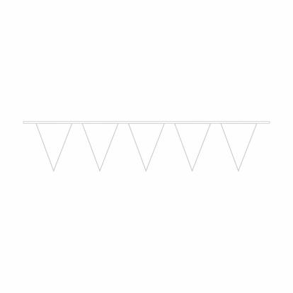 Vėliavėlių girlianda, plastikinė balta (10 m)