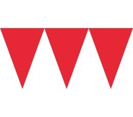 Vėliavėlių girlianda, raudona (4,5 m)