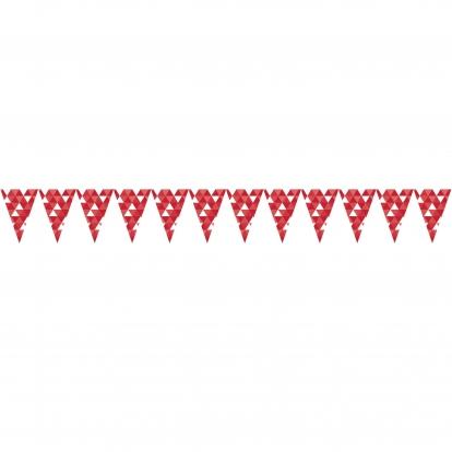 """Vėliavėlių girlianda """"Raudonos figūros"""" (2,74 m)"""