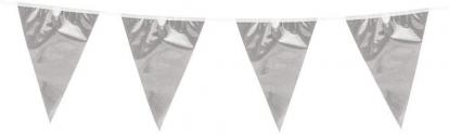 Vėliavėlių girlianda, sidabrinė folinė (10 m)
