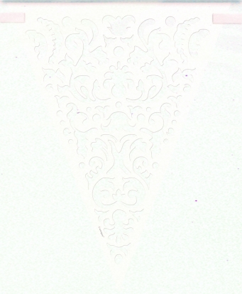"""Vėliavėlių girlianda """"Vestuvių karpiniai"""" (3,65 m)"""