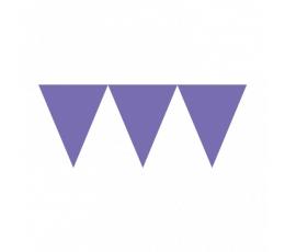 Vėliavėlių girlianda,  violetinė (4,5 m)