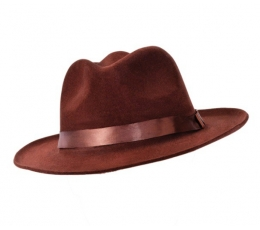 Velvetinė skrybėlė / ruda (1 vnt.)