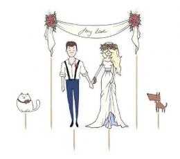 Vestuvinė torto dekoracija (1 vnt.)